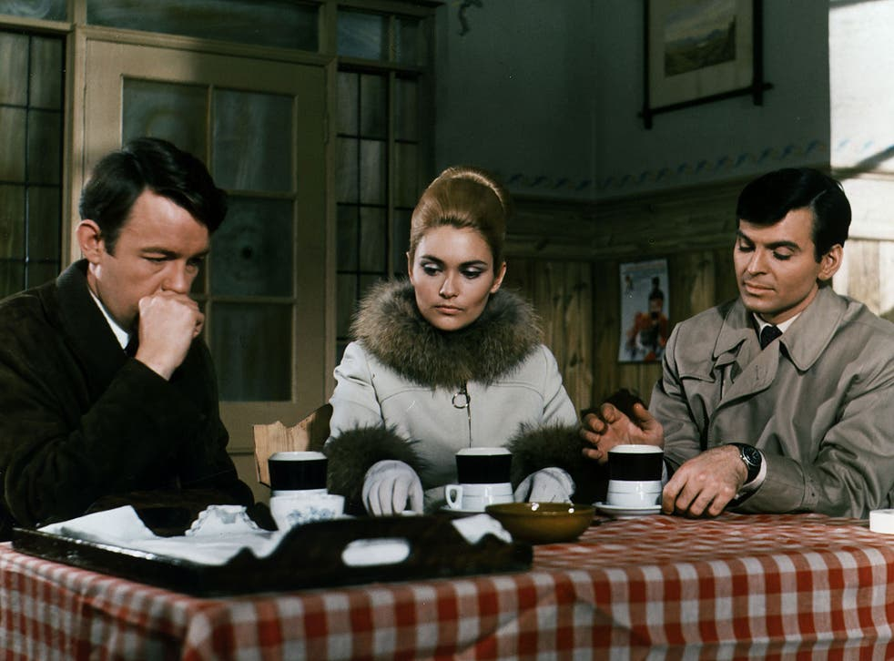 'Champions of law, order and justice': from left to right, William Gaunt as Richard Barrett, Bastedo as Sharron Macready and Stuart Damon as Craig Stirling