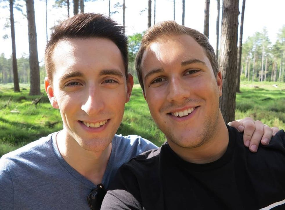 Joe (left), 26, and partner Will; the couple has been together for almost four years