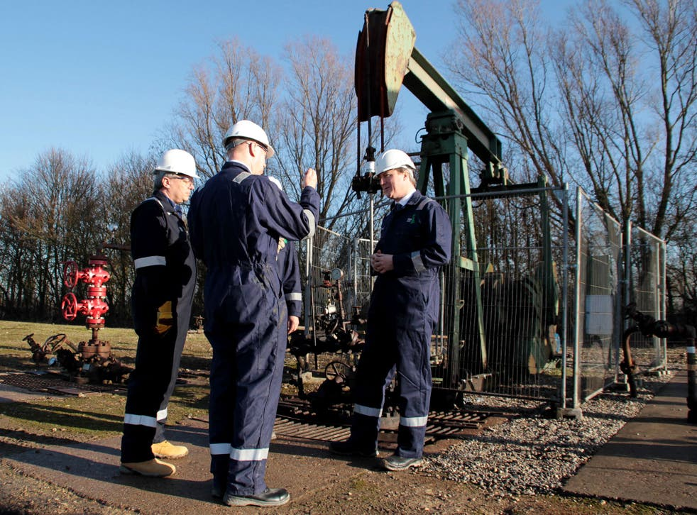 David Cameron visits the Total Oil Depot shale drilling site in Gainsborough, Lincolnshire. MPs have accused the government of seeking to bribe local councils to grant planning permission for controversial fracking projects