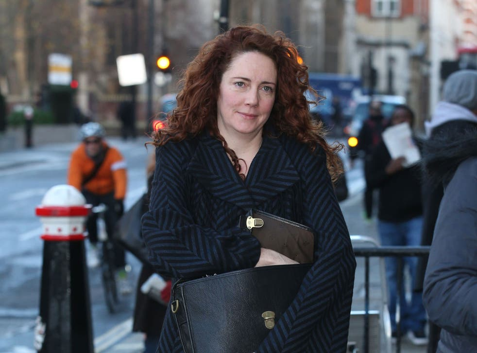 CCTV footage of Rebekah Brooks' husband allegedly hiding evidence from the police was shown to the jury