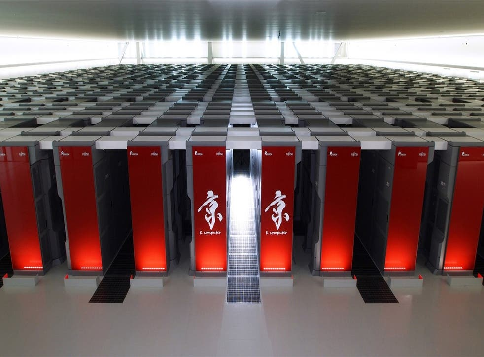 The K supercomputer in Japan.
