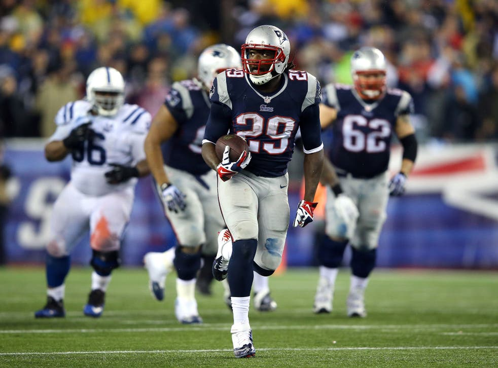 New England Patriots running-back LaGarrette Blount scored a record four rushing touchdowns in the play-off victory over the Indianapolis Colts