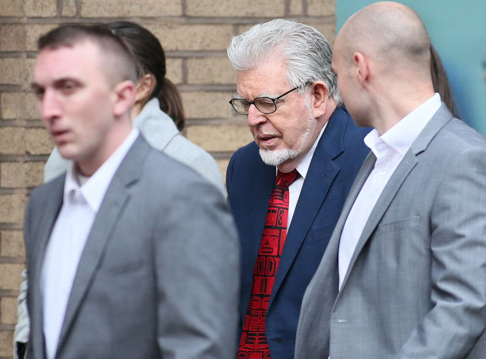 Rolf Harris arrives in court today
