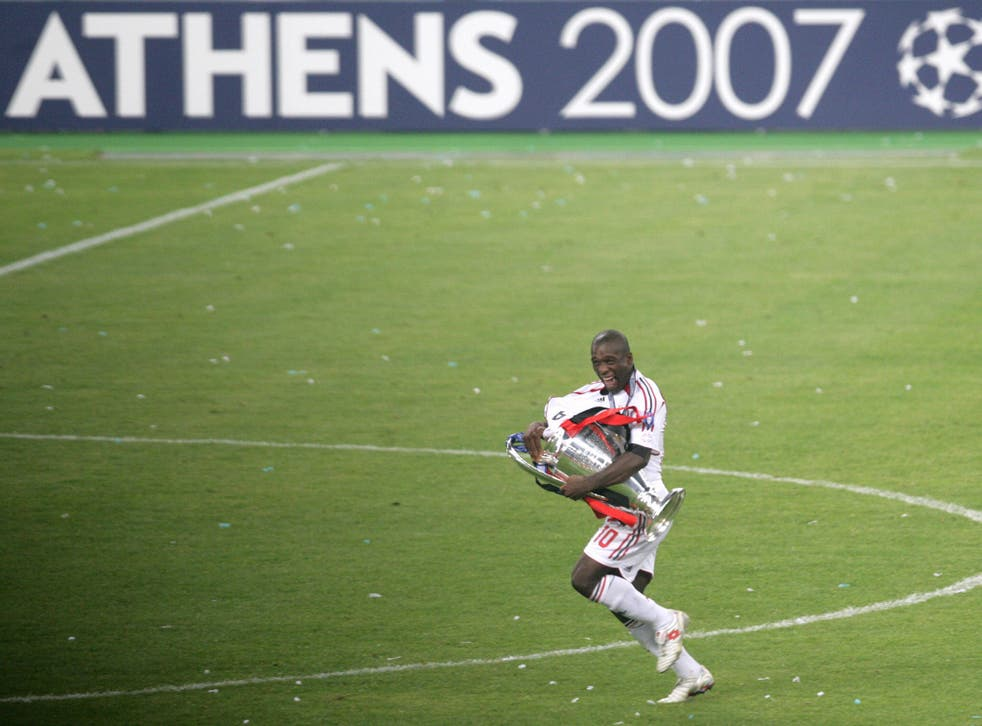 Clarence Seedorf pictured after winning the Champions League with AC Milan in 2007