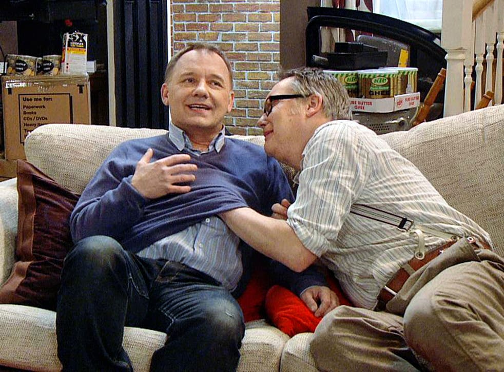 Brace yourself: Bob Mortimer and Vic Reeves in 'House of Fools'