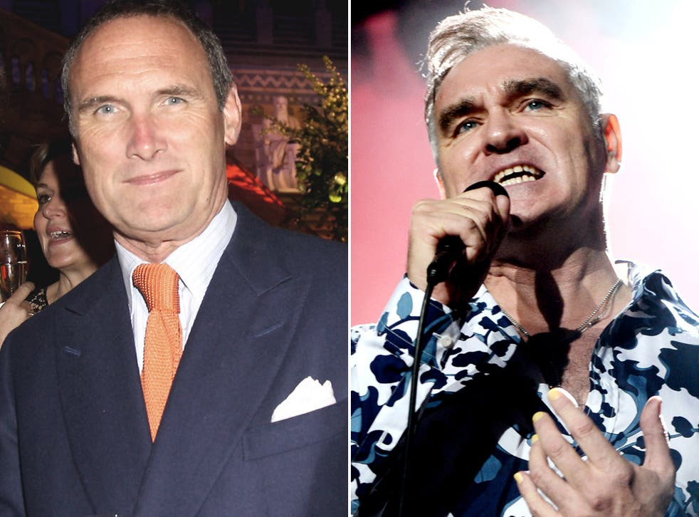 AA Gill (left) described Morrissey's book as a 'heavy tome, utterly devoid of insight, warmth, wisdom or likeability'