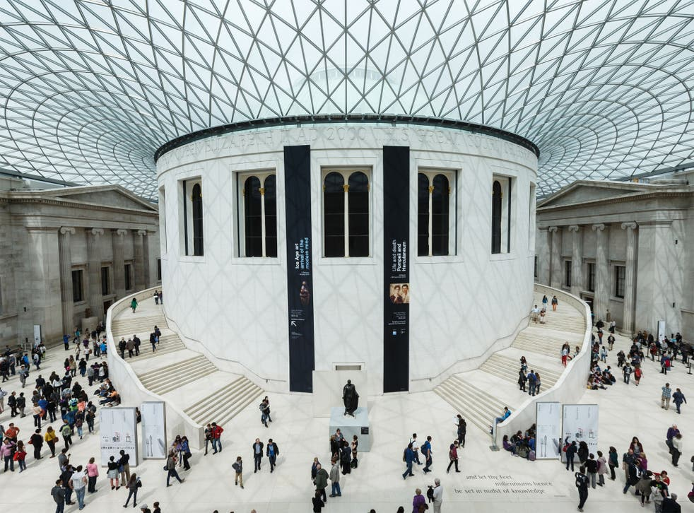 The Great Court inside The British Museum, in London