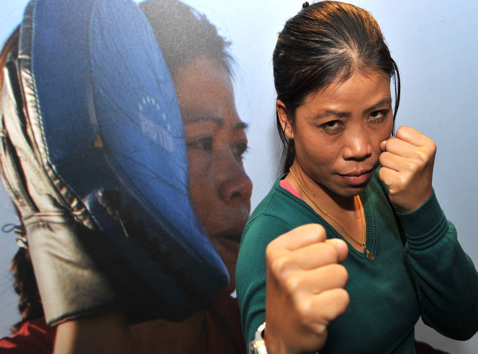 Olympic Boxer, Mary Kom at the London launch of Vodafone's Firsts initiative.