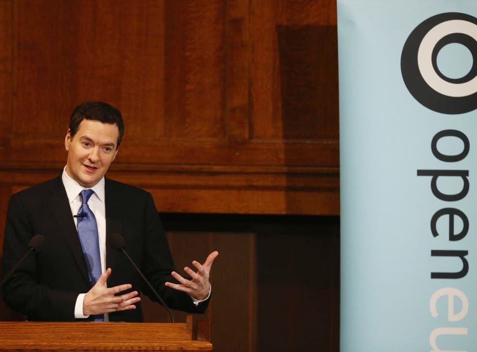 George Osborne delivered a warning that the EU should undergo reform, halting decline by backing business and curbing welfare spending