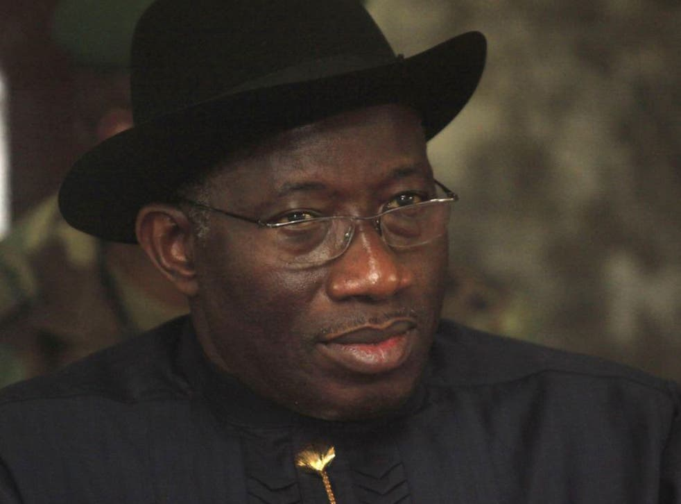 The conviction follows a new sweeping anti-gay law signed by Nigeria's President Goodluck Jonathan, pictured, which bans same-sex marriage, public displays of affection between members of the same sex and gay clubs