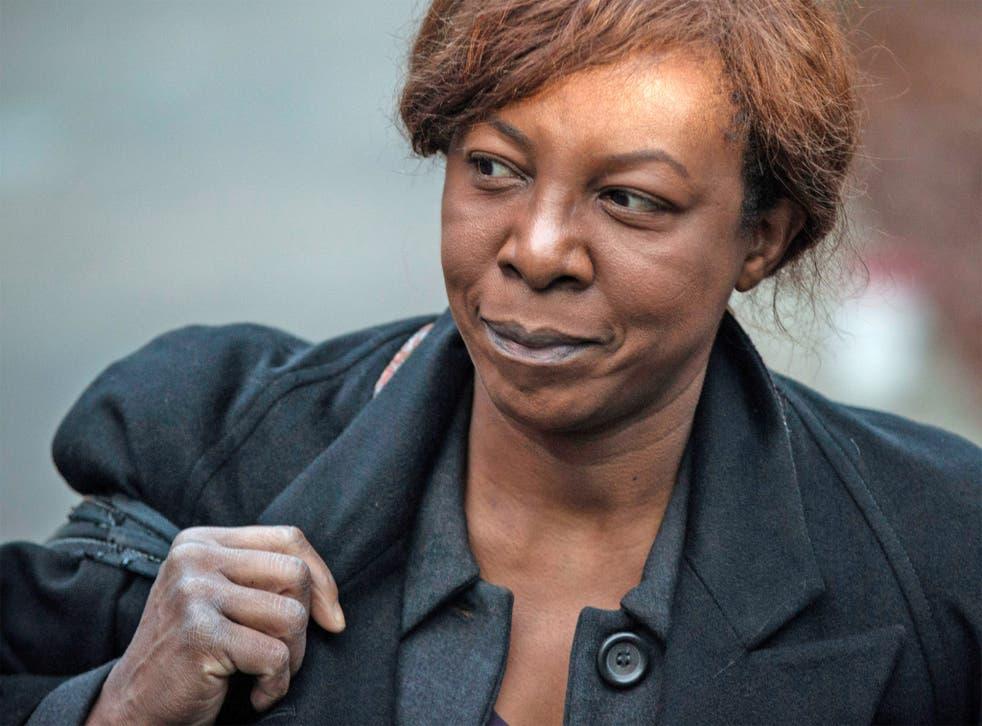 Constance Briscoe arrives at Southwark Crown Court