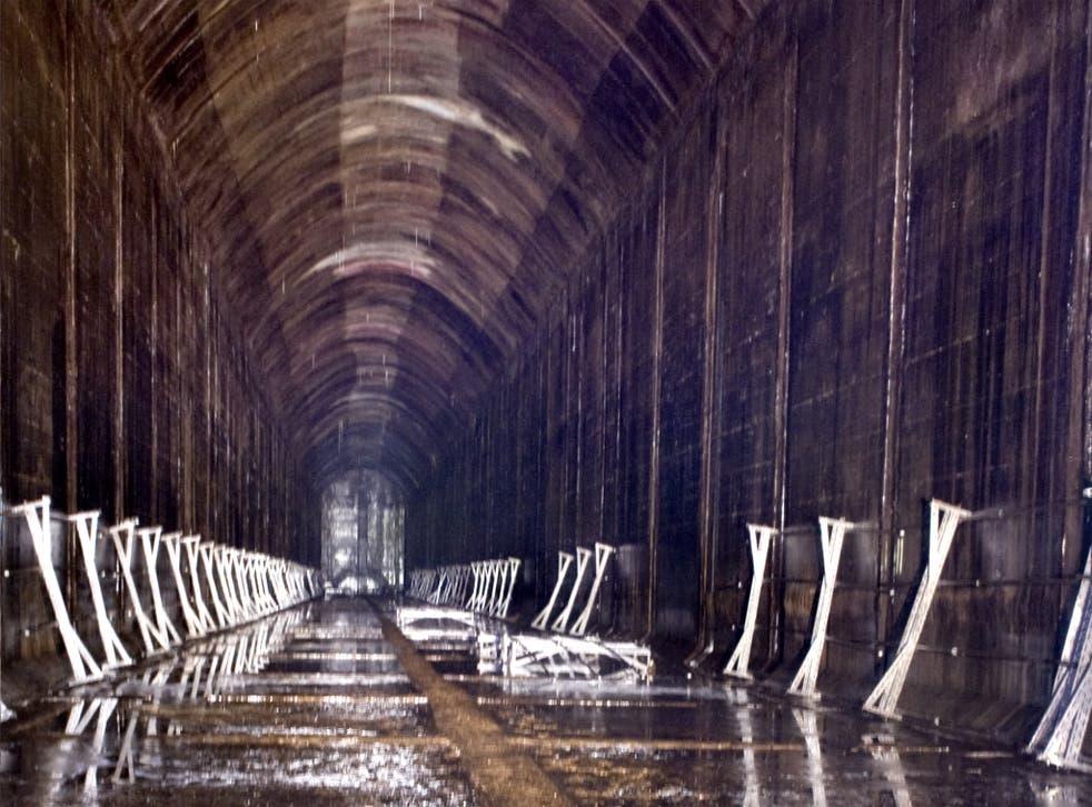 The oil-storage complex at Inchindown, near Invergordon in Scotland, was built during the Second World War