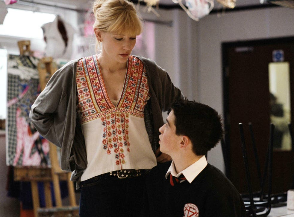Cate Blanchett in 'Notes on a scandal', which centered on a sexual relationship between teacher and pupil