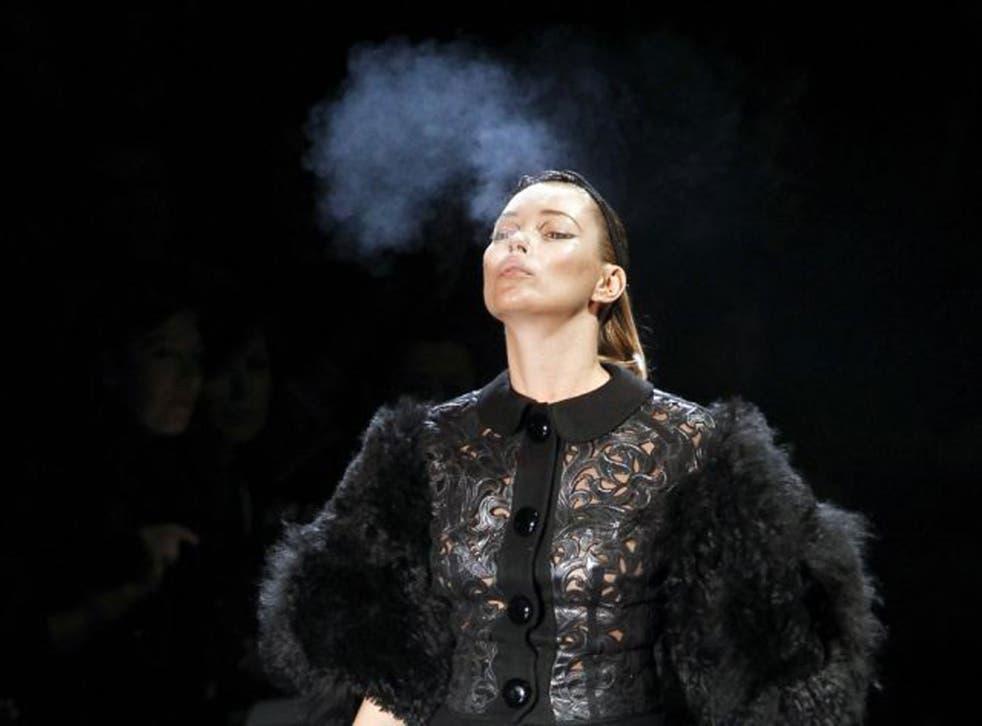 Kate Moss at the Louis Vuitton autumn/winter 2011 show in Paris
