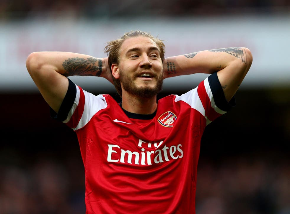Nicklas Bendtner is out of contract at Arsenal at the end of the season