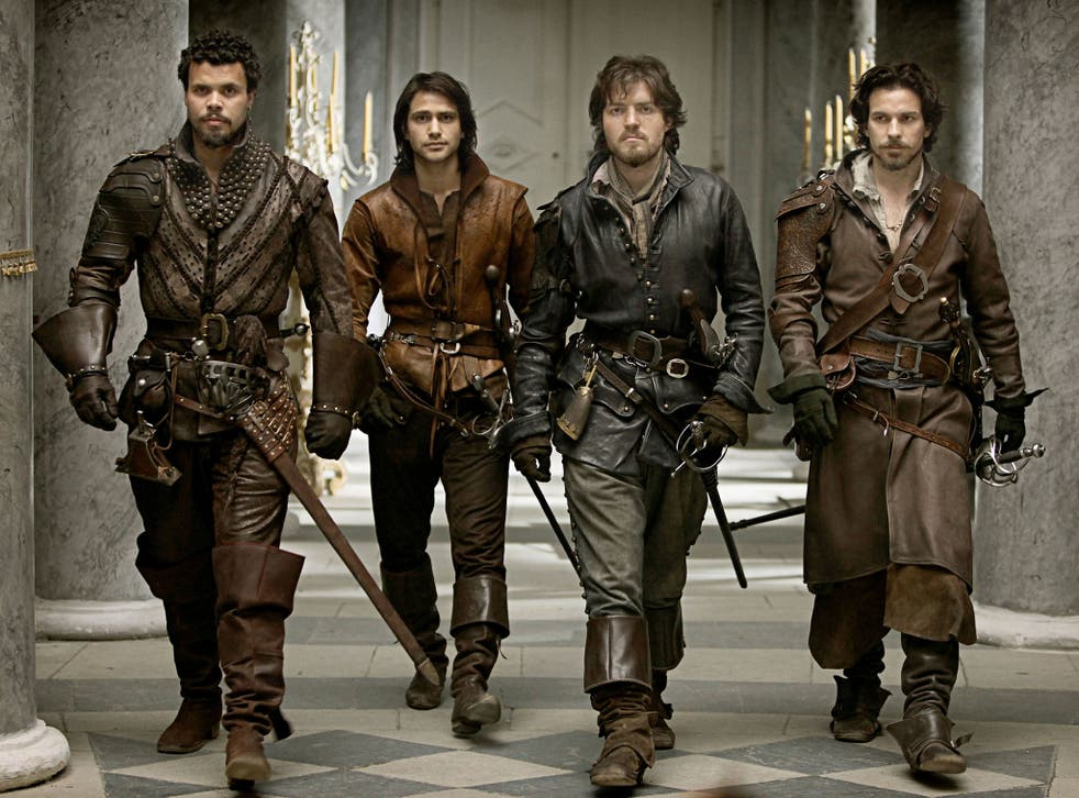 All for one and one for all: Porthos, d'Artagnan, Athos and Aramis in the new BBC production