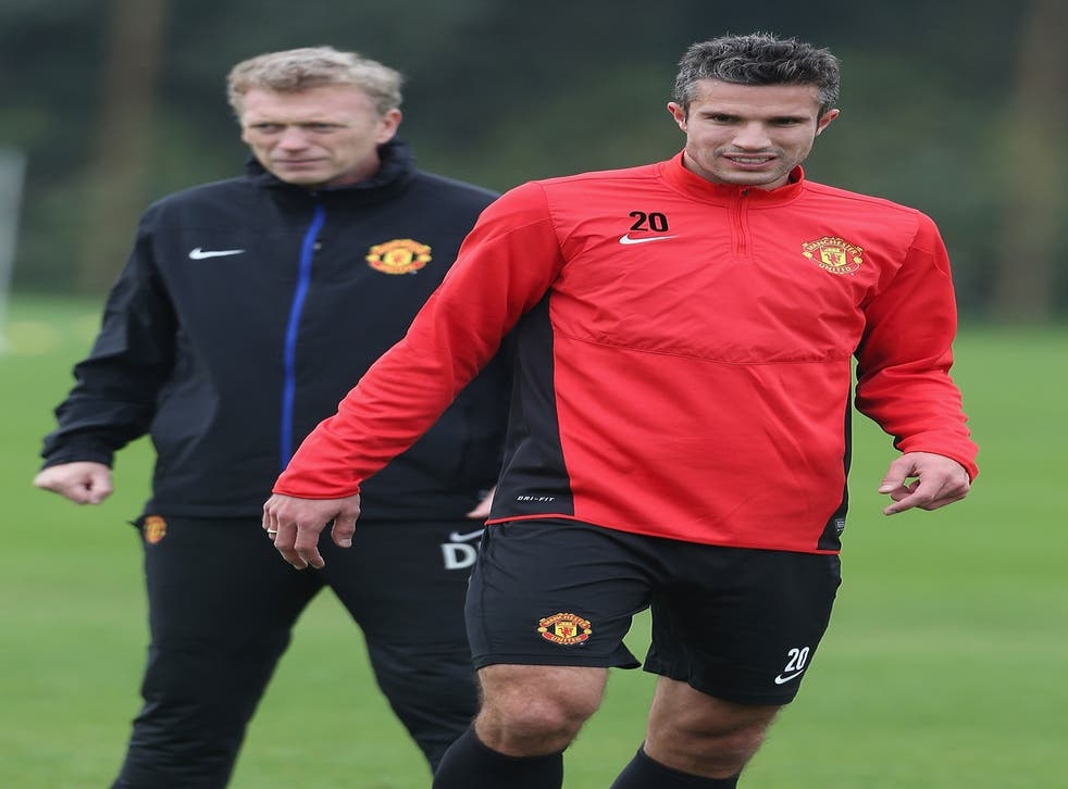 Robin van Persie (right) says his manager (left) needs time