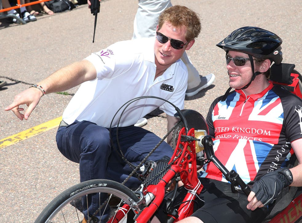 Prince Harry at the Warrior Games during his May 2013 visit to the US