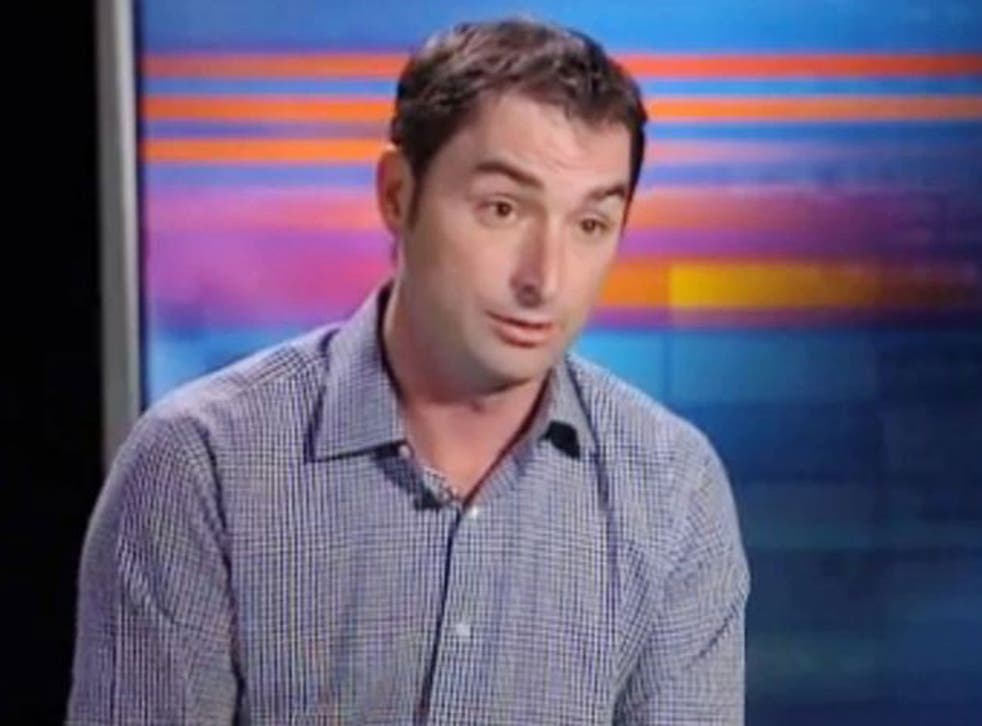 Corey Knowlton is shown in this image from video provided by WFAA.com on Thursday, Jan. 16, 2014. Knowlton, who paid $350,000 for the right to hunt an endangered African black rhino said heís had to hire full-time security due to death threats after his n
