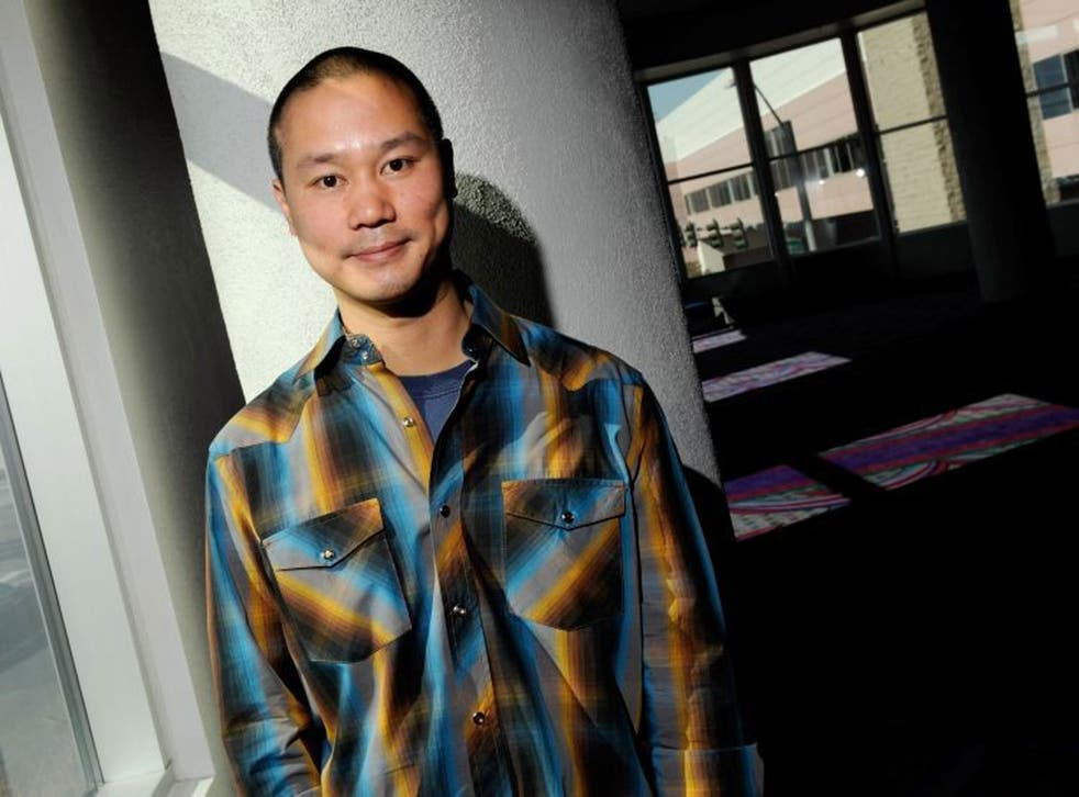 Tony Hsieh, founder of Zappos, where employees are famed for being happy