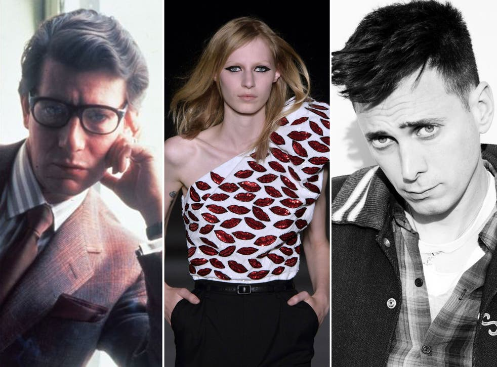 Youth appeal: Yves Saint Laurent in 1985 (left) and Hedi Slimane (right), whose change of direction is seen as edgy