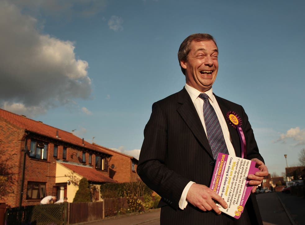 Mr Farage is favoured over Ed Miliband and Nick Clegg as a party leader, beaten only by David Cameron