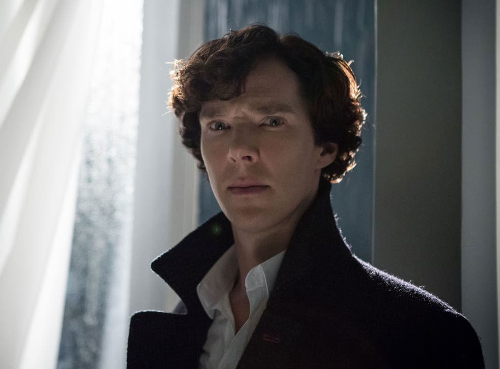 Sherlock played by Benedict Cumberbatch as he appears in the third series of the show, which has been a massive hit worldwide