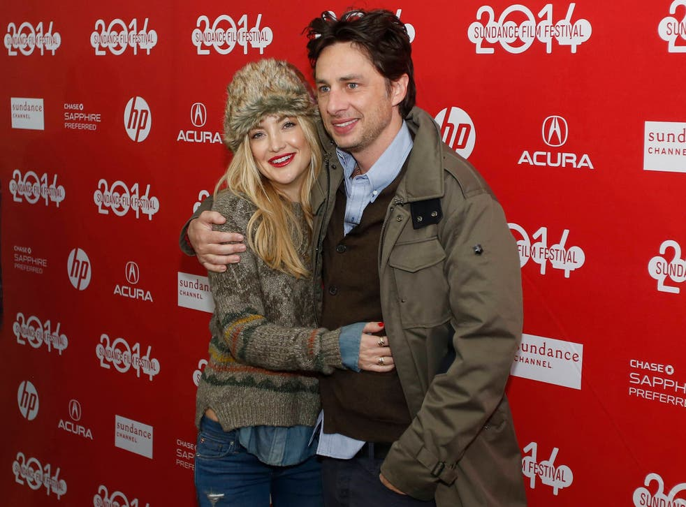 Zach Braff and Kate Hudson at the premiere of Braff's new film 'Wish I Was Here'