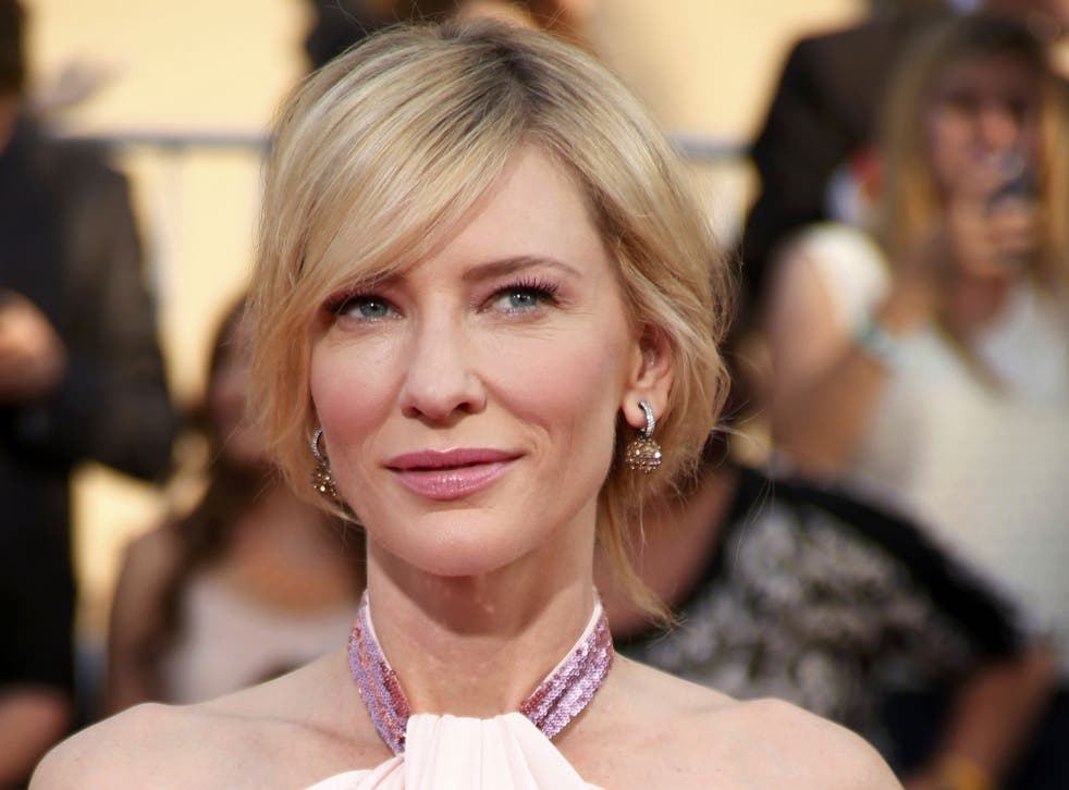 Cate Blanchett at the 20th annual Screen Actors Guild Awards, where she picked up the award for Best Female Actor in a Leading Role