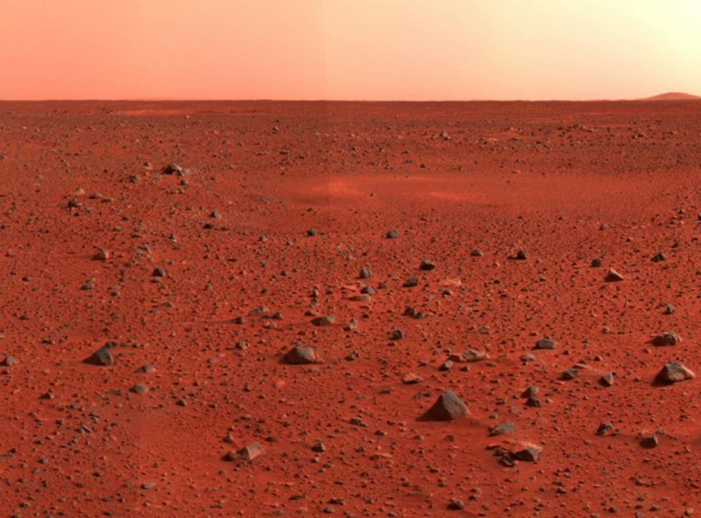 An illustration of the surface of Mars