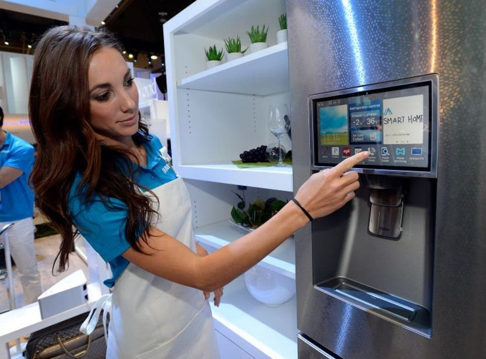 A bogeyman throughout the ages - this smart fridge was shown off at the Consumer Electronics Show in 2007.