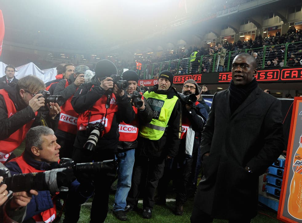 Clarence Seedorf takes charge of his first AC Milan match