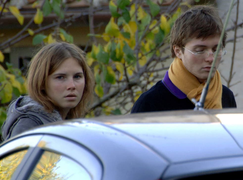 Amanda Knox, left, and Raffaele Sollecito in 2007, outside the rented house where 21-year-old British student Meredith Kercher. Defense lawyers for Amanda Knox and her Italian former boyfriend have their final say in the case on 20 January