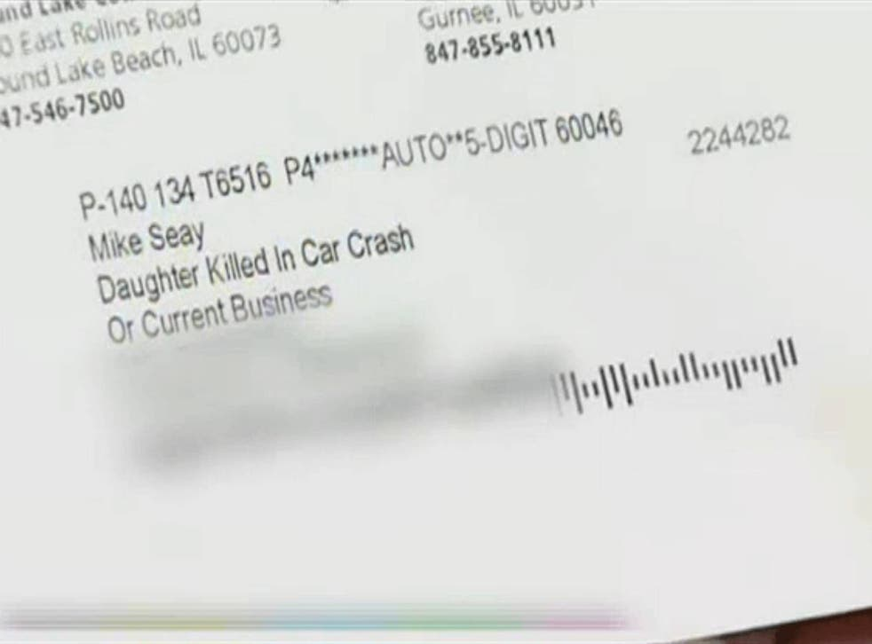Mr Seay was the victim of badly mail-merged data