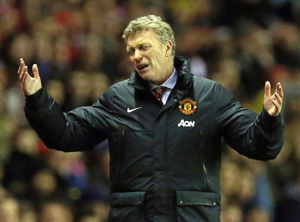 Football obsessive David Moyes in a black dog mood, showing what has been called his 'Reverend Ian Paisley mentality'