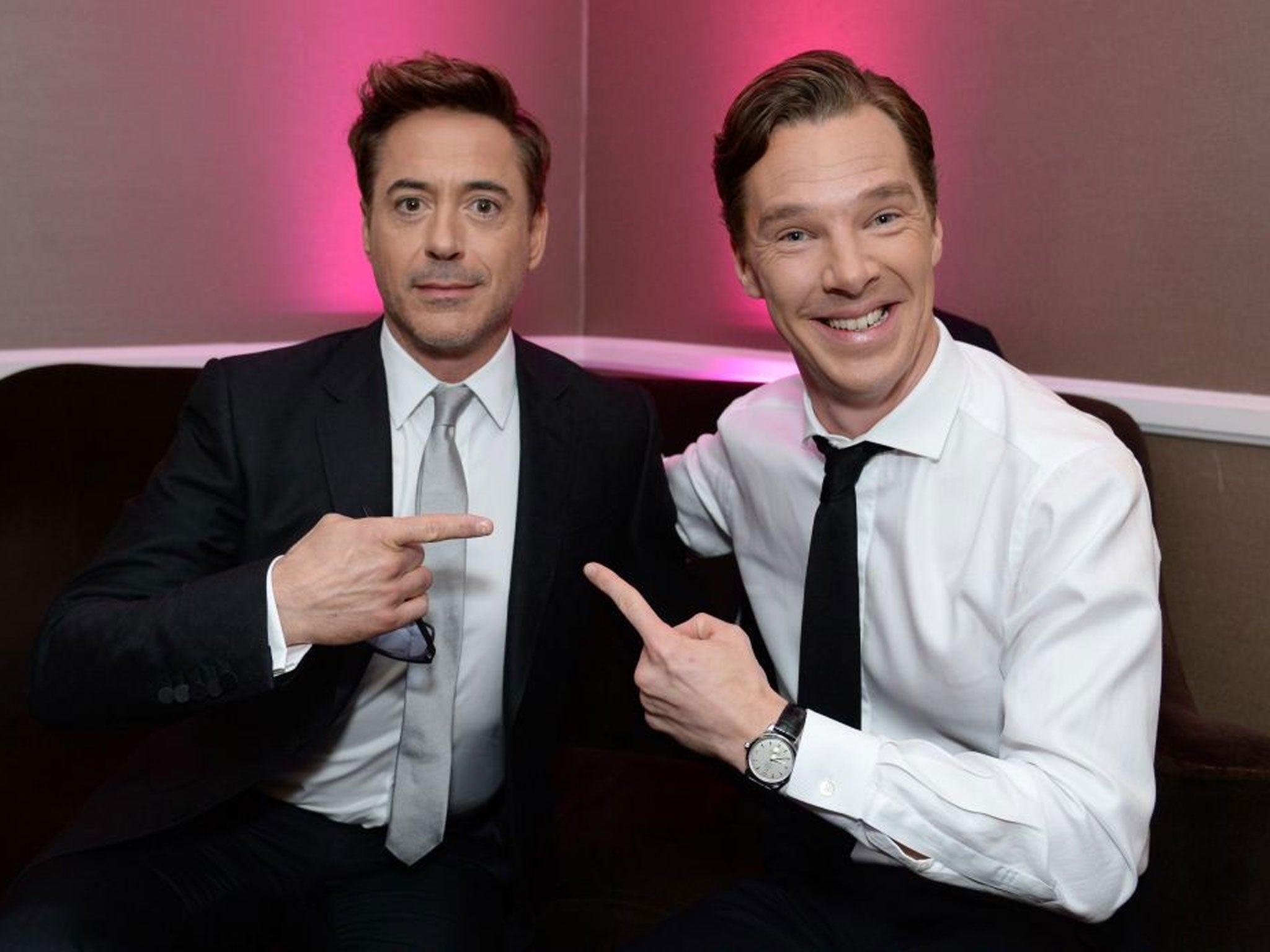 Benedict Cumberbatch and Robert Downey Jr..