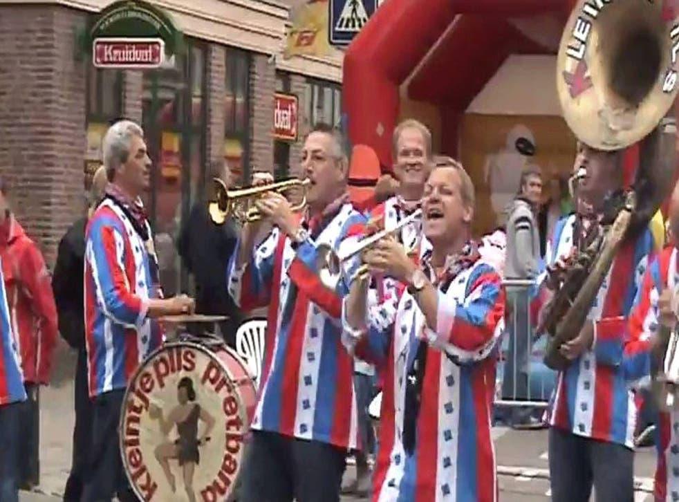Kleintje Pils perform in Voorhout, Netherlands