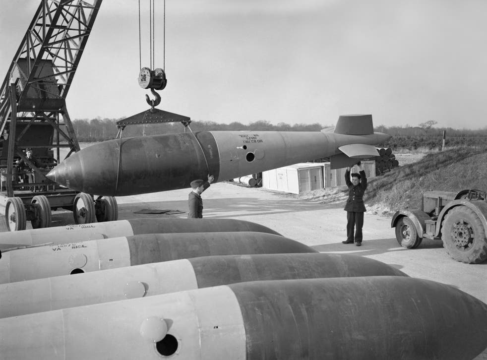 An image showing the vast size of the Grand Slam bomb