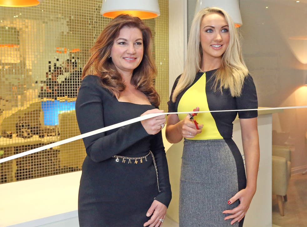 Dr Leah Totton, right, alongside Apprentice mentor Karren Brady