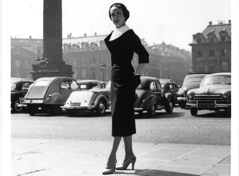 Golden age: Schiaparelli's 'caressing line' photographed in Paris in 1953