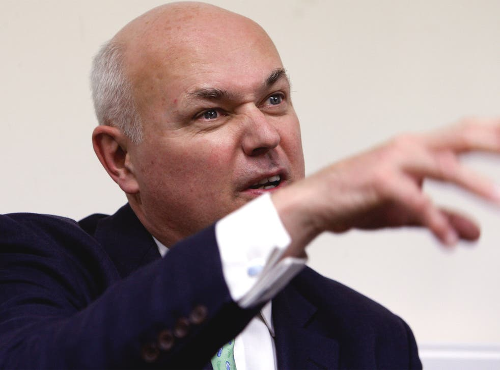 Iain Duncan Smith opposes plans for £12bn of further cuts from next year