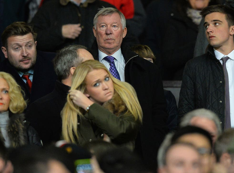 Sir Alex Ferguson looks less than impressed during Manchester United's League Cup defeat to Sunderland