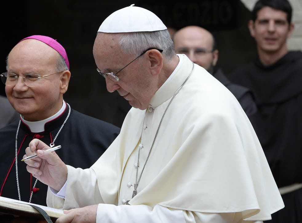 """Pope Francis wrote in a statement that the internet is a """"gift from God"""""""