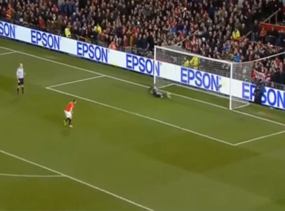 Phil Jones misses his penalty for Manchester United