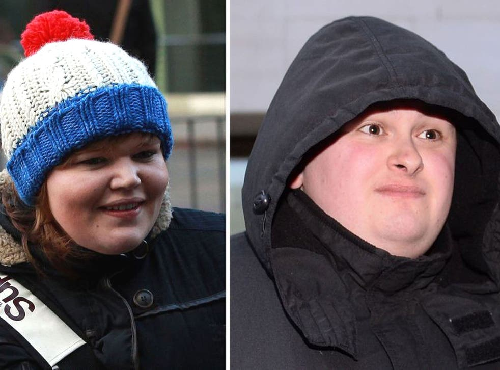 Isabella Sorley (left) and John Nimmo have been jailed for abusing a feminist campaigner over Twitter
