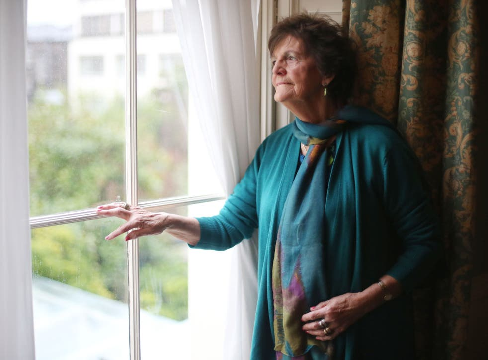 Philomena Lee in Dublin at the launch of the Philomena Project, a campaign to open up Irish adoption records