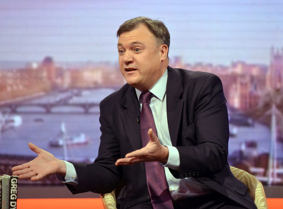 Ed Balls denied the claim that he would go beyond a 50p top tax rate