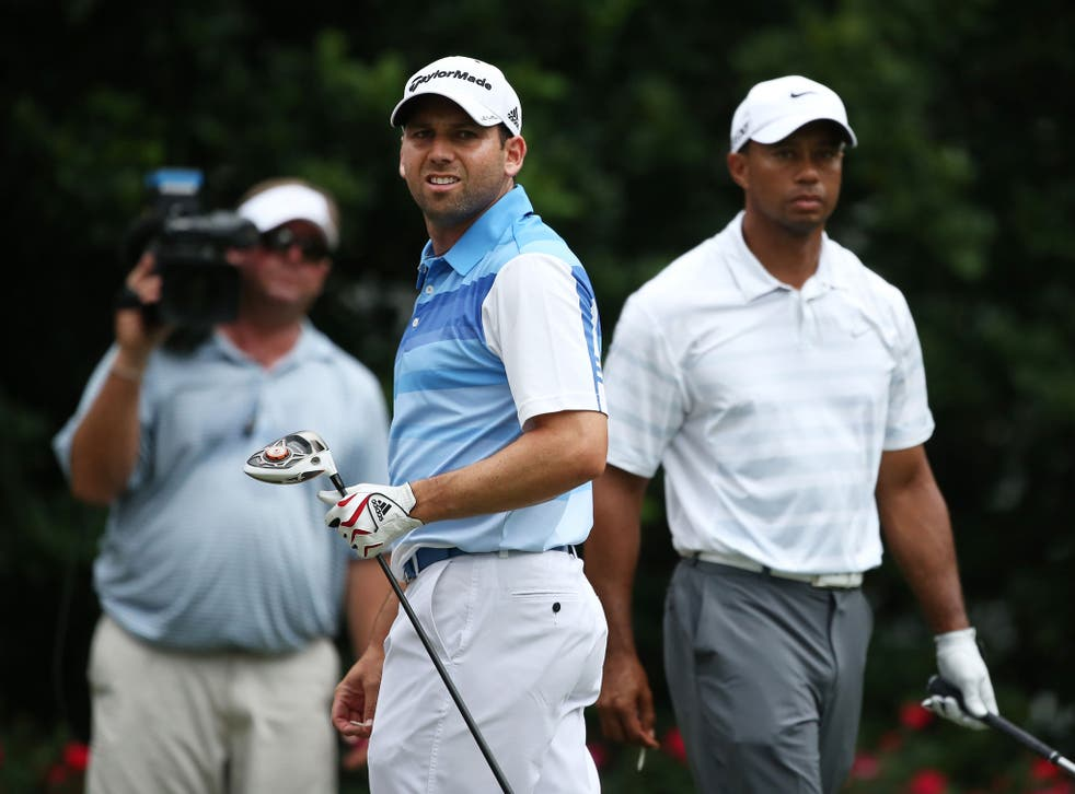 Tiger Woods and Sergio Garcia; there is no love lost between the two great golfers