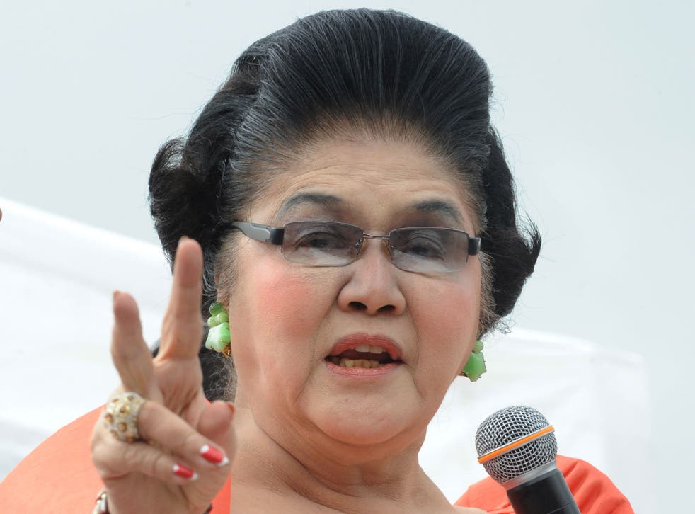 Imelda Marcos, pictured here back in 2012, was notorious for her shoe collection