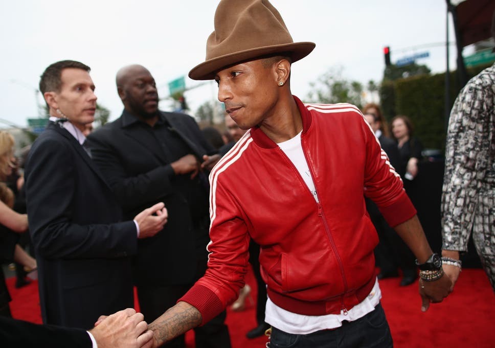 Pharrell Williams  hat stole the show at the 56th Grammy Awards in Los  Angeles 5eb361b3aa6
